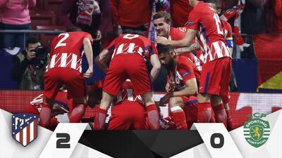 En fotos: Atlético venció a Sporting de local y dio un paso a semifinales de Europa League