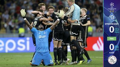 Ajax perdona todo ante el Dynamo Kiev y aún así vuelve a la Champions League
