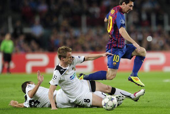 Los 'azulgranas' dominaron desde el comienzo del juego, con un Messi inq...