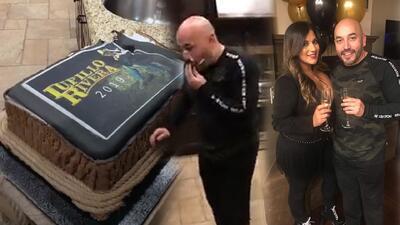 En video la doble celebración: El pastelazo a Lupillo Rivera y la declaración de amor de su novia