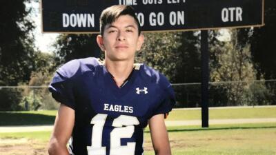 Jeremy Sánchez fue encontrado muerto en el lecho del río San Gabriel, en...