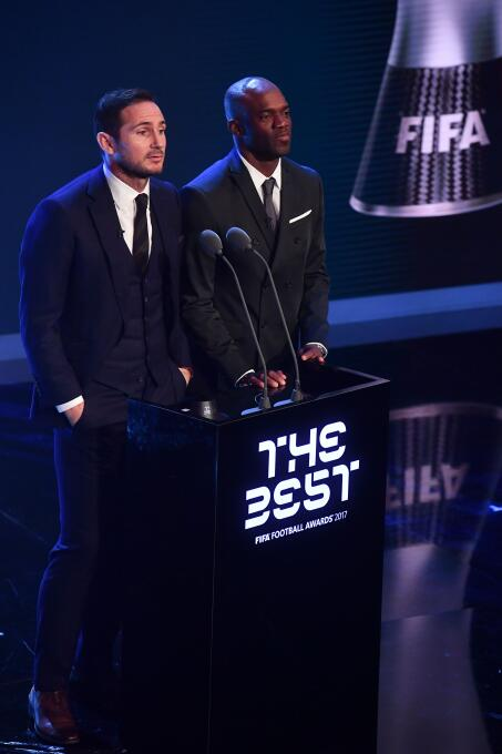 Frank Lampard, exfutbolista inglés, y David Suazo, exfutbolista hondureñ...