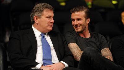 David Beckham y Tim Leiweke