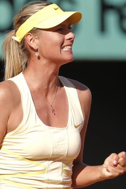 En quinto lugar llega la rusa Maria Sharapova, quien quiere volver a cal...