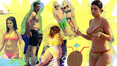 Sin complejos, estos famosos disfrutaron del verano