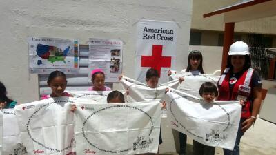 Cruz Roja entrena niños