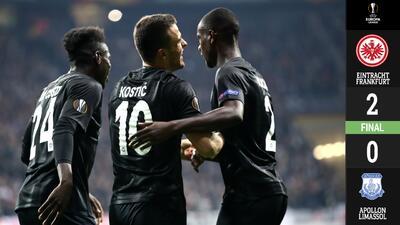 El Eintracht Frankfurt cumple ante el Apollon en la Europa League