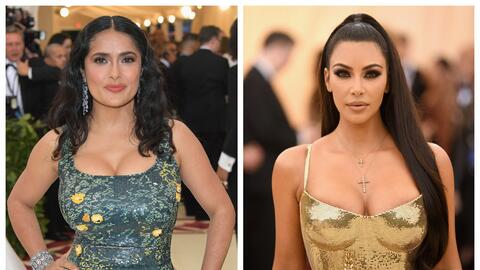 Salma Hayek y Kim Kardashian.