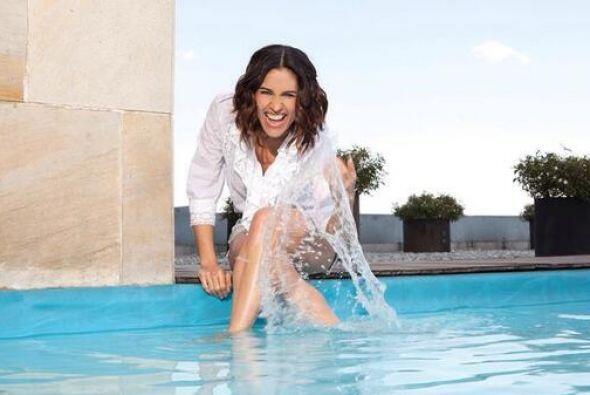 """Su primer papel fue en la telenovela """"Ángela"""", al lado de Angélica River..."""