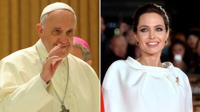 Angelina Jolie visita al Papa Francisco en el Vaticano