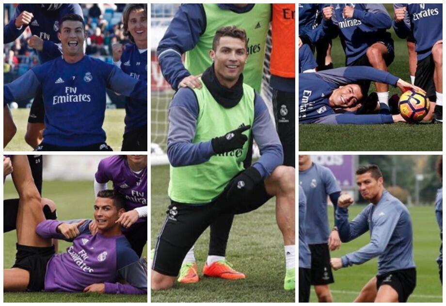 Cristiano es el 'Lord' de los entrenos y las poses del Real Madrid Cr7 P...