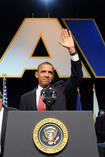 El anunció lo hizo ante la convención nacional de Veterano...