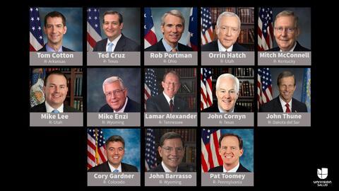 Estos senadores conforman el grupo de trabajo.