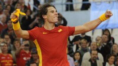 La victoria de Nadal pone en ventaja a España y aporta tranquilidad para...