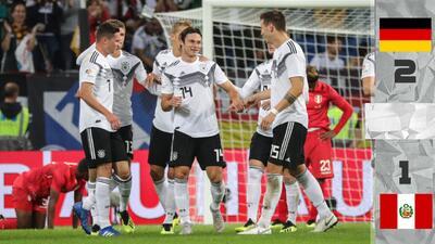 Alemania da voltereta ante su gente y vence a Perú en amistoso