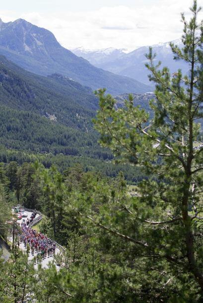 Los corredores atravesaron toda la parte norte de los Altos Alpes donde...