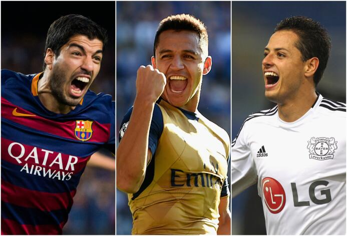 El once latino de la Champions
