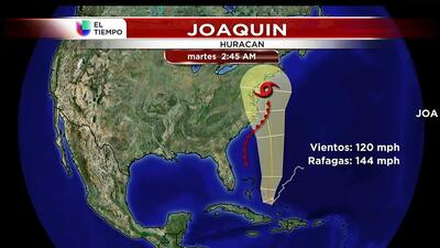 Joaquin ya es huracán categoria 3
