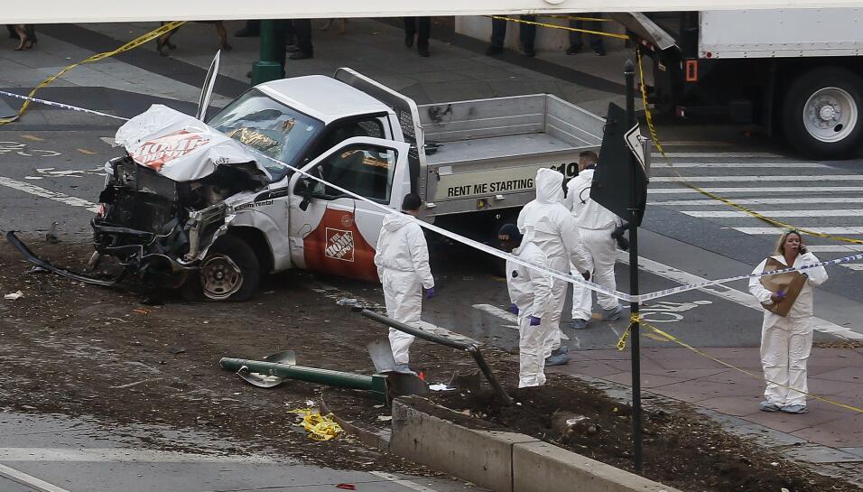 El vehículo utilizado en lo que el alcalde de Nueva York dijo que se tra...