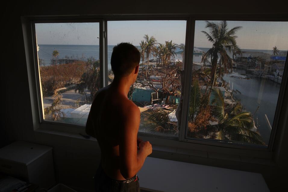 MARATHON, FL - SEPTEMBER 18:  Markus Reinfandt looks out the third story...