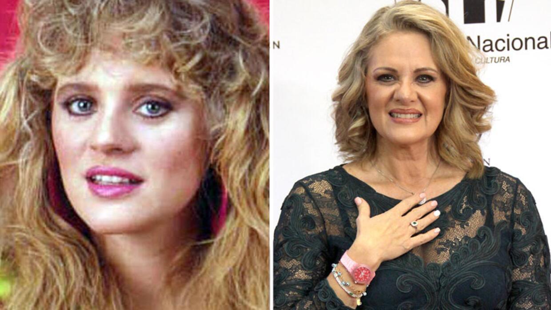 Erika Buenfil antes y después.