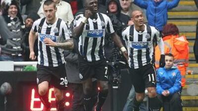 Yoan Gouffran celebra su gol contra Chelsea.