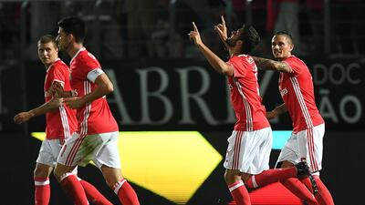 Benfica inicia la defensa de su título con triunfo sobre el Tondela