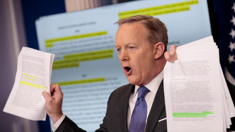 Las combativas ruedas de prensa de Sean Spicer fueron la característica...