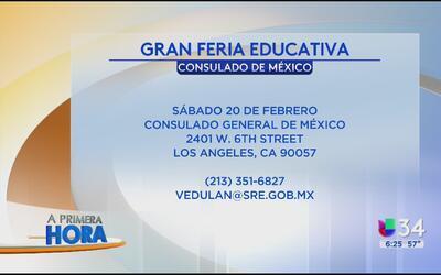 Feria educativa en el Consulado de México