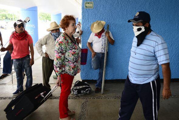 Los pasajeros no se mostraban molestos por las afectaciones que la manif...