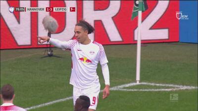 Yassuf Poulsen pone orden el marcador tras la reacción del Hannover
