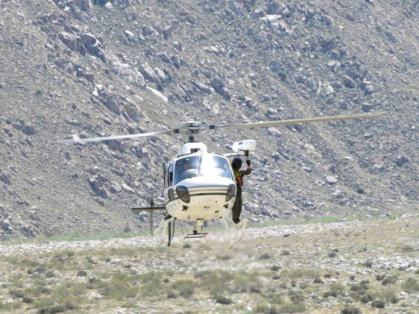 Las autoridades llegaron por aire a salvarlo.