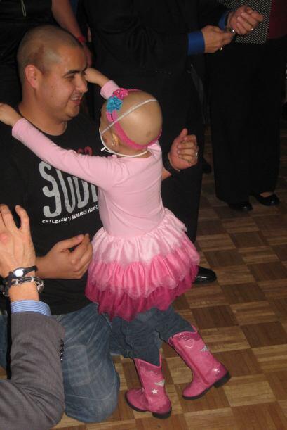 Ariana con su papá