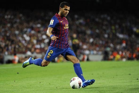 Dani Alves en es una pieza fundamental 'culé'. Es el típico lateral bras...