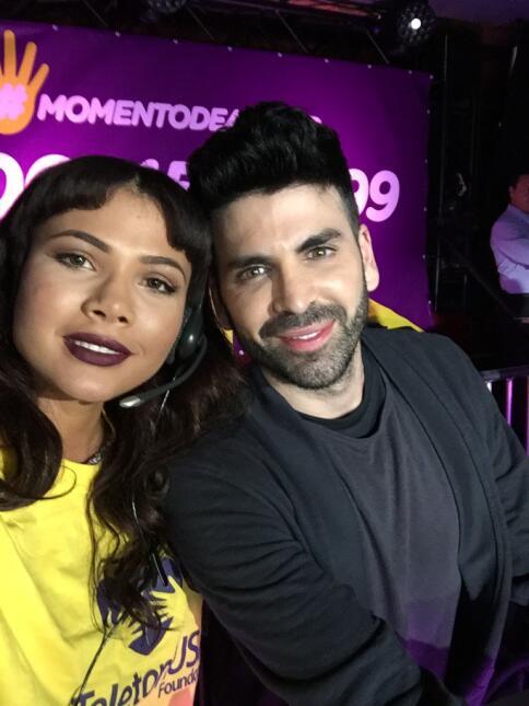 Doralys Britto y Jomari en Teletón USA 2015