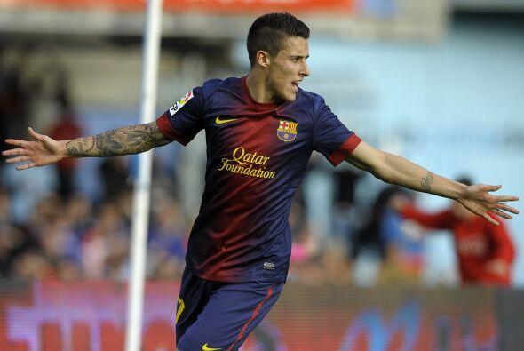 Un pase de Messi dejó a Tello en un mano a mano con el portero y el cant...