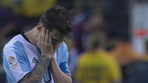 Messi llora la derrota de Argentina.