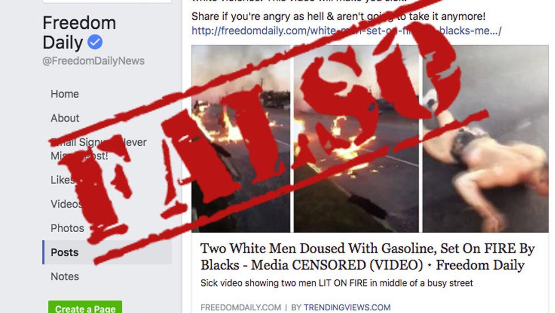 La noticia falsa del ataque