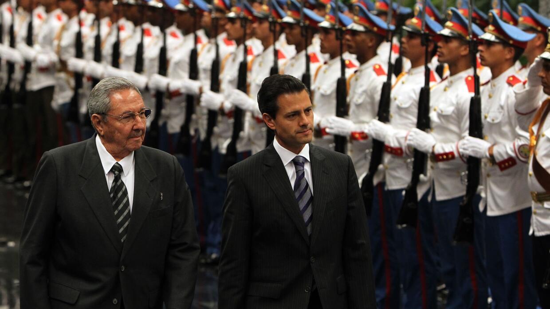 Enrique Peña Nieto de visita en Cuba.