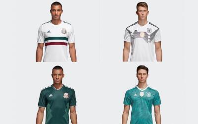 Estas son las playeras México y Alemania para el Mundial de Rusia...