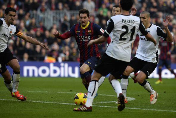 Con la ventaja en el marcador el Barcelona sominó a placer en los primer...
