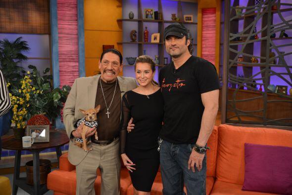 Danny Trejo, Alexa Vega y el director Robert Rodríguez estuvieron...