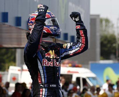 GP de ESPA'A, 9 de mayoWebber dominó la carrera de principio a fin y Fer...