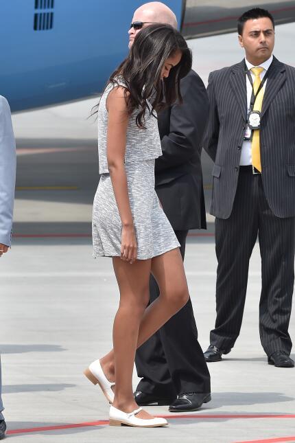 Malia Obama creció dándonos lecciones básicas de moda  GettyImages-47743...