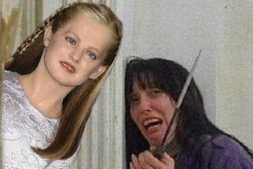 """Leonor aparece en algunas escenas de películas como la de """"El Resplandor""""."""