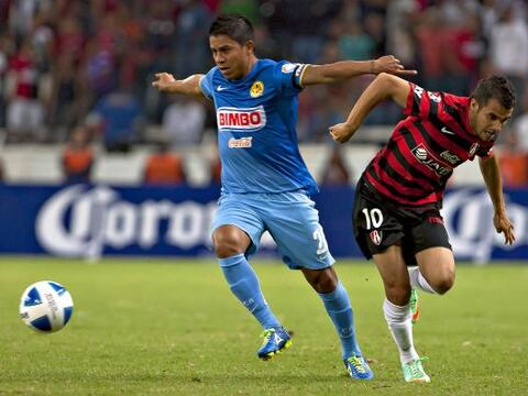 Atlas y América se enfrentaron en la cancha del Estadio Jalisco e...