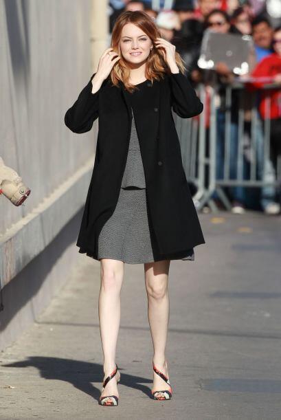 Emma Stone demostró que le está costando trabajo alejarse de las tendenc...