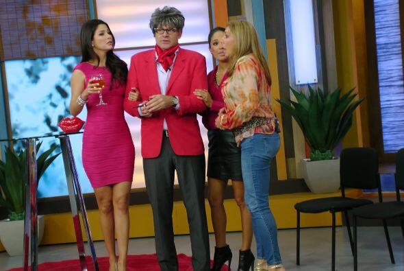 Xavi Ondo se unió al festejo de Cynthia, ella ya lo esperaba muy ansiosa.
