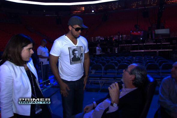 Romeo también llegó a los ensayos Premio Lo Nuestro