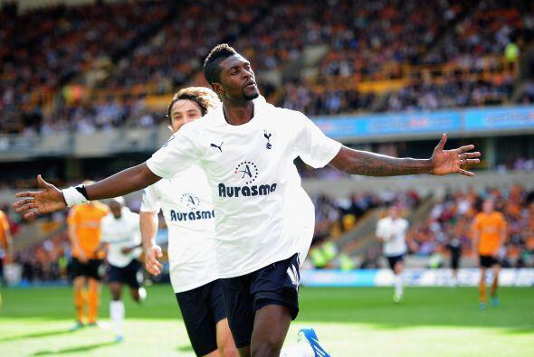 El primer tanto del juego lo anotó el ex Real Madrid Emmanuel Ade...